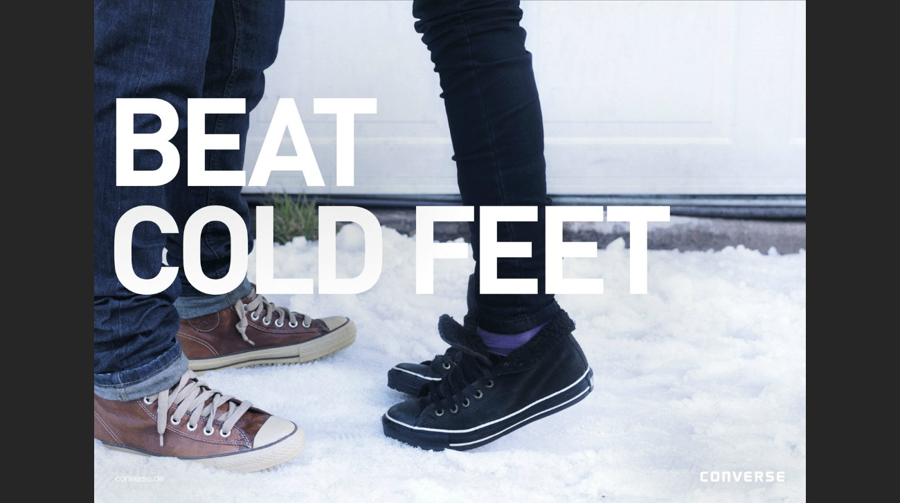 beat cold feet converse winterchuck converse Nike Keep your cool Patagonia Mana Manamedia Dani kiwi Meier Art director Gian Paul Lozza David Carrewyn Eve Bates Jacaranda Argentina Patagonia Sth America productions snow winter