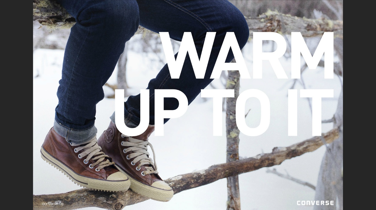 warm up to it converse winterchuck converse Nike Keep your cool Patagonia Mana Manamedia Dani kiwi Meier Art director Gian Paul Lozza David Carrewyn Eve Bates Jacaranda Argentina Patagonia Sth America productions snow winter