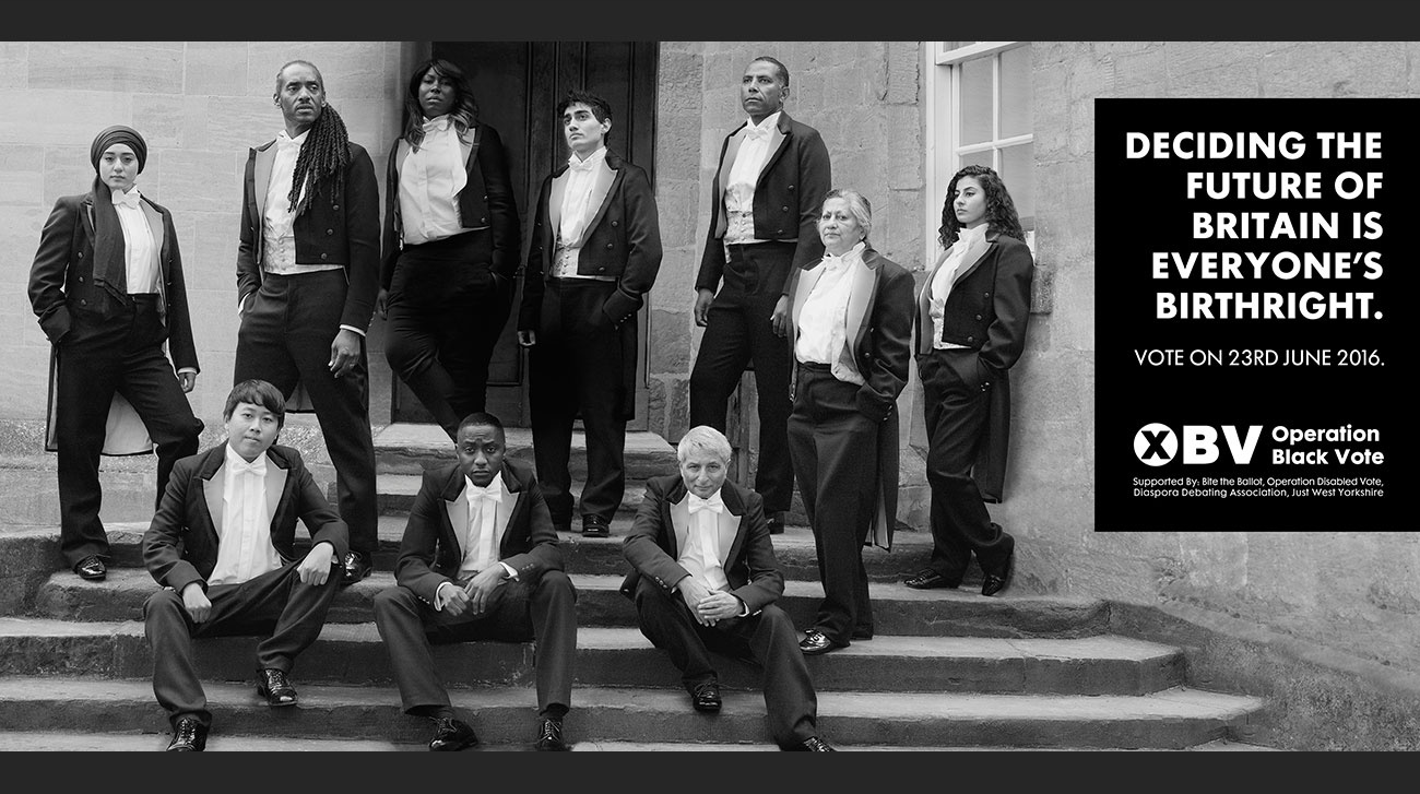 Deciding the future of Britains is everyone's brithright Operation Black Vote ManaMedia MANA Saatchi & Saatchi UK London